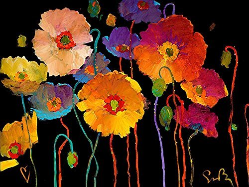Tollyee Simon Bull - Art Print on Canvas (28x20 inches, unframed)