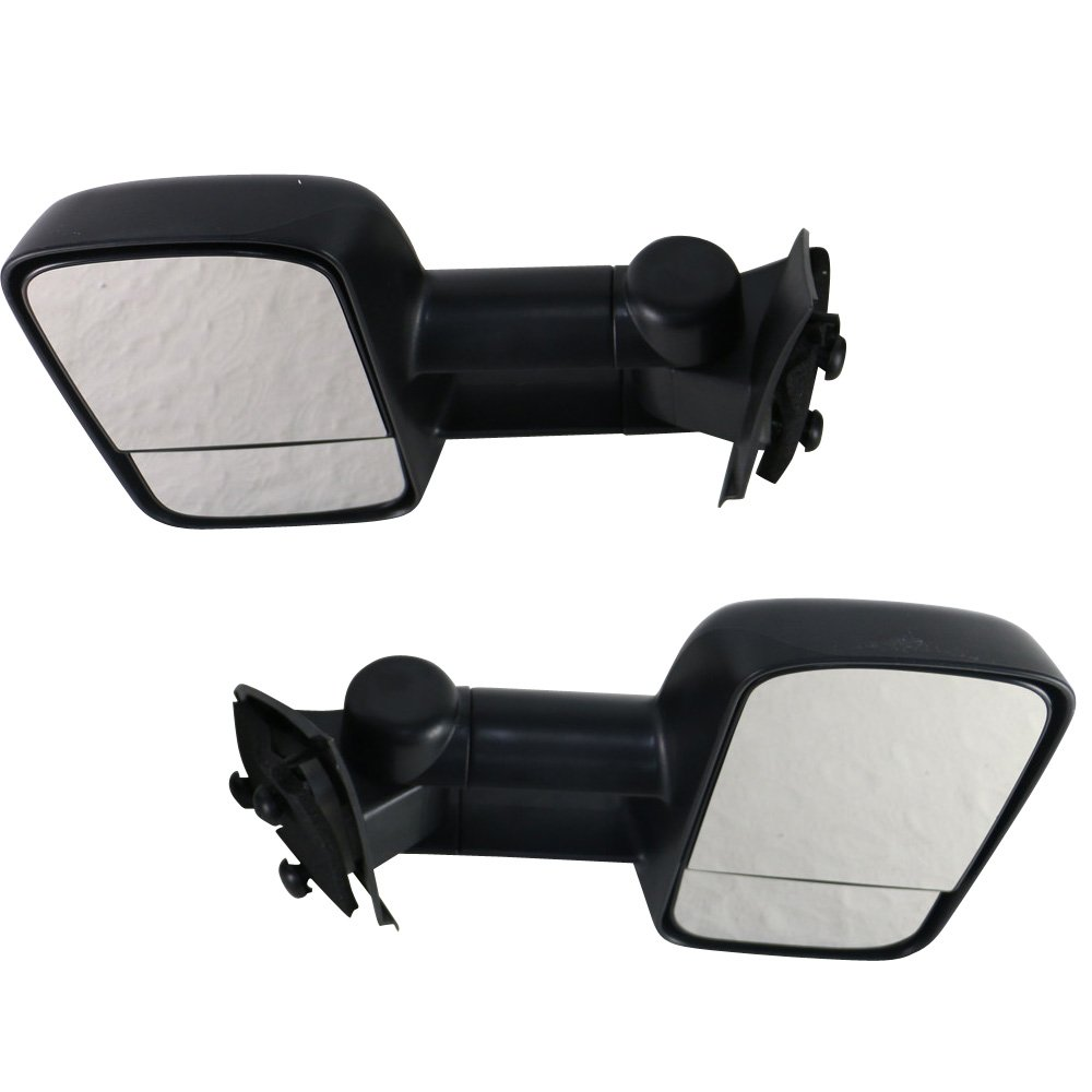 1998 1999 2000 2001 2002 2003 Towing Mirror Fits 1997-2004 Ford F150 F250 Side View Towing Tow Mirrors Manual Non-Heated Pair 2PC by IKON MOTORSPORTS