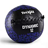 Yes4All Dynamic Wall Ball/Soft Medicine Ball, Wall Med Ball for Crossfit Workout and Full Body Exercises – 12lbs