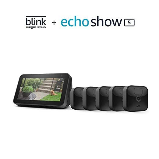 Blink Outdoor 5 Cam Kit bundle with Echo Show 5 (2nd Gen)   Amazon