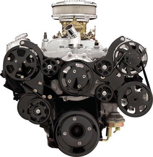 Nueva Billet Specialties negro anodizado tru-trac Pontiac 326 ...