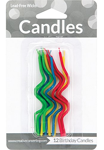 "Creative Converting 101023 Birthday Cake Candle, 3.25"", Multicolored"