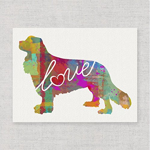 Cavalier King Charles Spaniel Love - Watercolor-Style Print/Poster on Fine Art Paper - Can Be Personalized