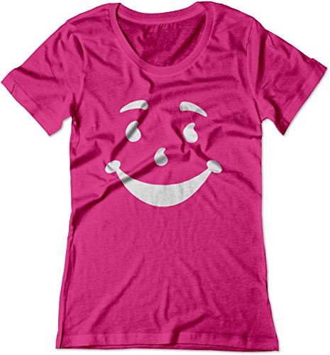 (BSW Women's Kool-Aid Man Smiley Face Oh Yeah! Juice Shirt LRG Raspberry)