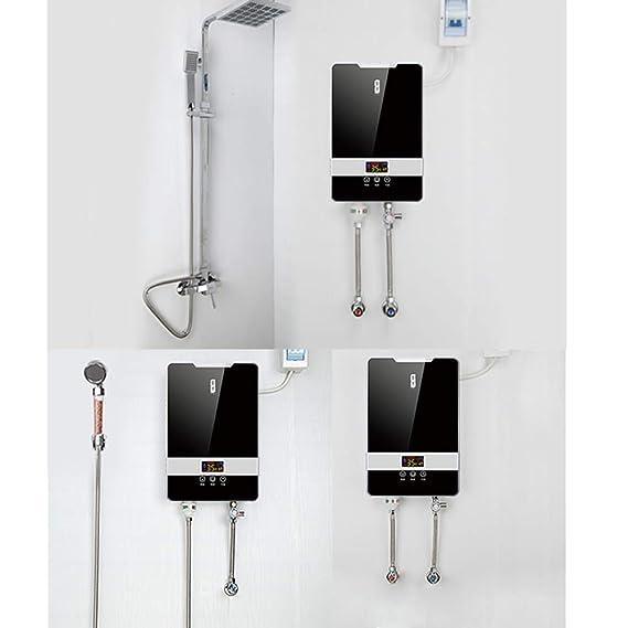 Calentador de Agua instantáneo - Cocina casera 5.5KW frecuencia de conversión de Temperatura Constante Calentamiento rápido baño pequeño Calentador de Agua ...