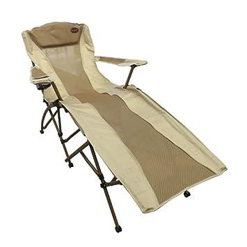 Aluminium Chaise Longue Pliante Camping Chaise Extérieure