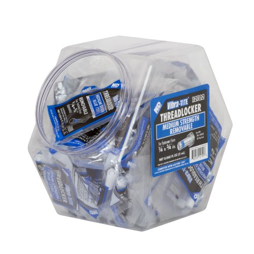 Vibra-TITE 121 Medium Strength Removable Anaerobic Threadlocker Fish Bowl, 2ml Bullet Tubes, Blue, 100 pieces