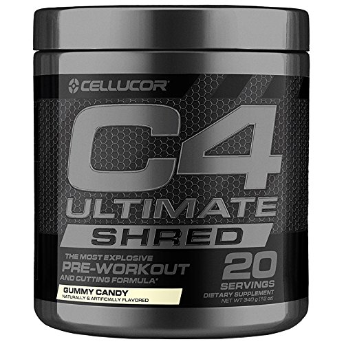 Cellucor C4 Ultimate Shred, Pre Workout Powder + Fat Burner, Fat Burners for Men & Women, Gummy Candy, 20 Servings