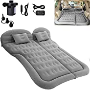 SAYGOGO SUV Air Mattress Camping Bed Cushion Pillow - Inflatable Thickened Car Air Bed with Electric Air Pump