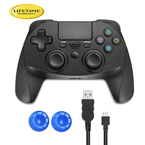 PS4 Controller Wireless Remote Control - OUBANG(2018 NEW)Dualshock 4 PS4 Pro Slim Video Games Controllers Heavy Duty Bluetooth Playstaion4 Gamepad for Kids,Women,Girls,Gamer with PS4 Headset Jack
