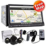 High Definition Autoradio 7 Inch In Dash double 2Din Car Stereo DVD Player GPS Navigation 3D Bluetooth HD GPS Navi Radio TV bluetooth RDS Ipod audio video Stereo+free rear camera