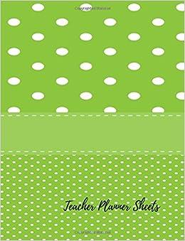 teacher planner sheets undated lesson plan book for teachers 40