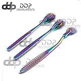 DDP Set of 3 Wartenberg Neurological Pin Wheel Pinwheel 1, 2, 3 Head Diagnostic Multi Color Rainbow