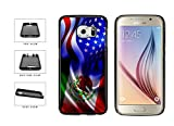 Mexico And USA Mixed Flag TPU RUBBER Phone Case Back Cover Samsung Galaxy S6 includes BleuReign(TM) Cloth and Warranty Label