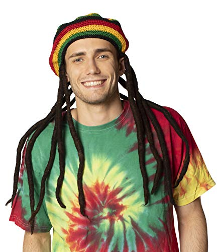 Rasta Imposta The Original Tam With Dreadlocks, Multi, One Size