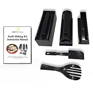 Zen Formosa Sushi Making Kit, Premium Design for Beginner with Step-By-Step Picture Instruction