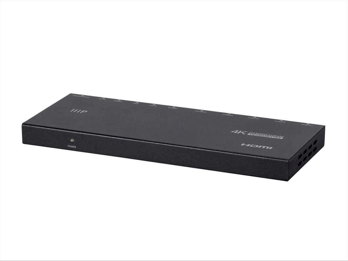 Monoprice 1x4 HDMI Amplifier Splitter over CAT5e/CAT6 Complete Solution Kit - Extend up to 164ft-1 splitter, 4 receiver