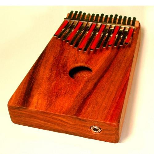 Hugh Tracey Kalimba Kiaat Wood Box-Mounted 15 Note Acoustic Electric Kalimba by Hugh Tracey Kalimba