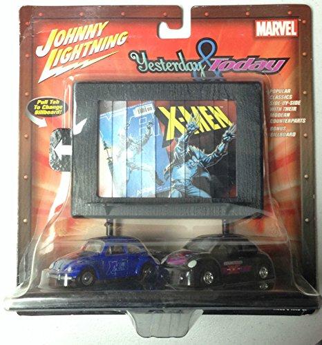 Johnny Lightning Marvel X-Men Wolverine Volkswagen Set - #1 '66 Beetle & #2 Ultimate X-Men '98 Bug