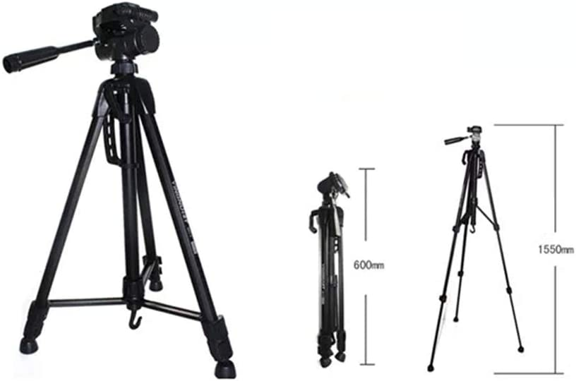 Color : Black, Size : One Size TAESOUW-Accessories Portable Aluminum Alloy Camera Tripod for DSLR Camera and Smartphones