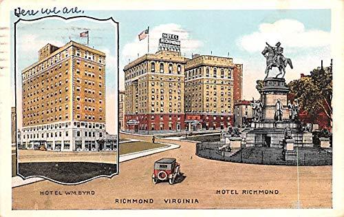 Civil War Post Card Old Vintage Antique Postcard Hotel WM Bryd, Hotel Richmond, VA Postal Used ()
