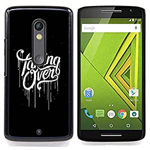 - Taking Over Black Scary Paint Dripping/ Duro Snap en el tel????fono celular de la cubierta - Cao - For Motorola Verizon DROID MAXX 2 / Moto X Play