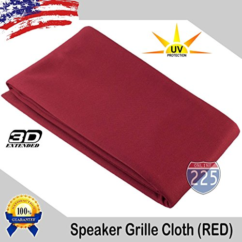 Red Stereo Speaker Grill Cloth Fabric 36