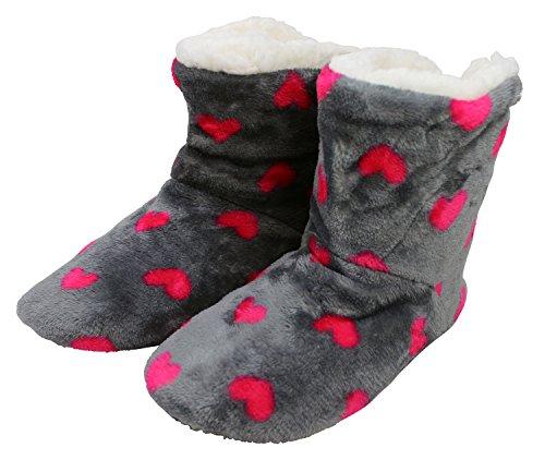 Enimay Womens Pantoufle Chaussure Bottes Salon Maison Détendue
