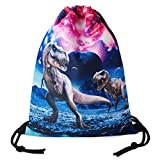 TUONROAD Adult Mens Personalized 3d Graphic Drawstring Backpack Cool Waterproof Pull String Bag Red Pink Galaxy Space Universe Planet Canyon Dinosaur Gym Hiking Sports Basketball Cinch Sack Pack