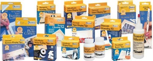 Lineco Archival Material: Safe Acrylic Self-Adhesive Linen Tape, 1 1/4 x 400 by - Material Archival Lineco