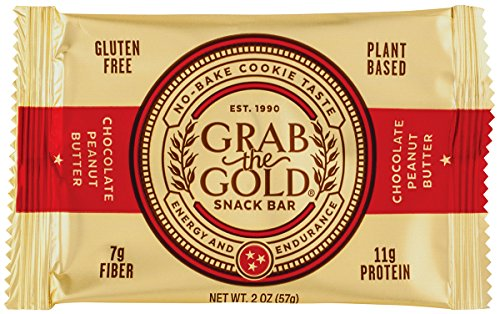 Grab The Gold Energy Snack Bars, Box of 12 Bars chocolate peanut butter