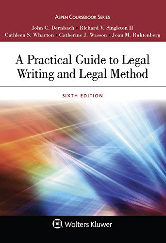 a-practical-guide-to-legal-writing-and-legal-method-aspen-coursebook