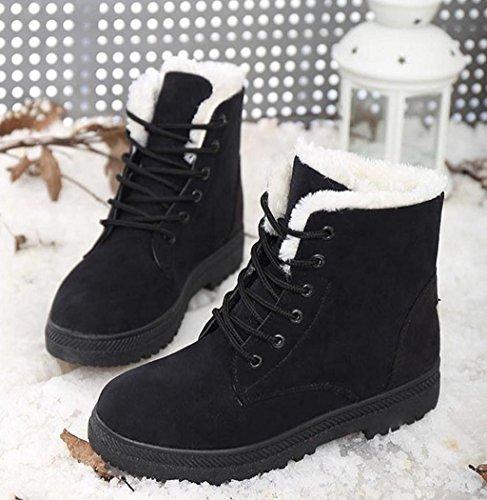 Viasa Fashion Winter Nieuwe Klassieke Dames Warme Schoenen Snowboots Zwart