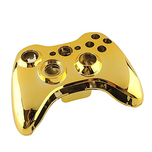 New Case Shell Cover for XBOX 360 Wireless Controller Plating Gold US