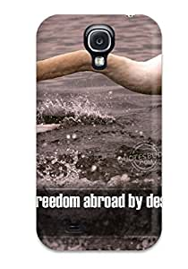 New Premium Flip Case Cover Freedom Quotes Skin Case For Galaxy S4