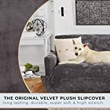 Great Bay Home Velvet Plush Stretch Loveseat