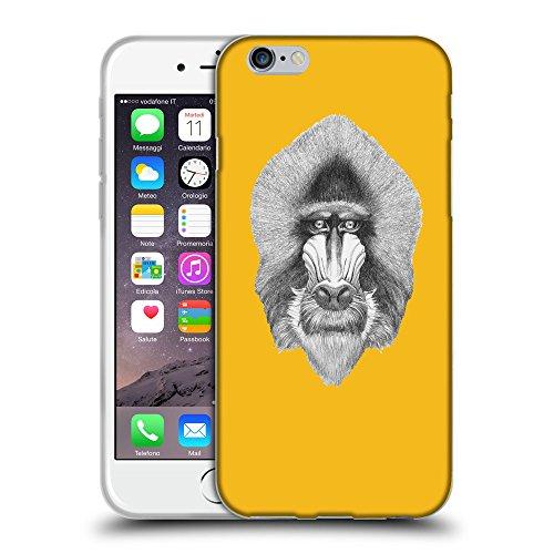 "GoGoMobile Coque de Protection TPU Silicone Case pour // Q05400602 Portrait mandrill ambre // Apple iPhone 6 PLUS 5.5"""