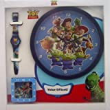 Disney TOY STORY Watch, Wall Clock and Alarm Clock Gift Set