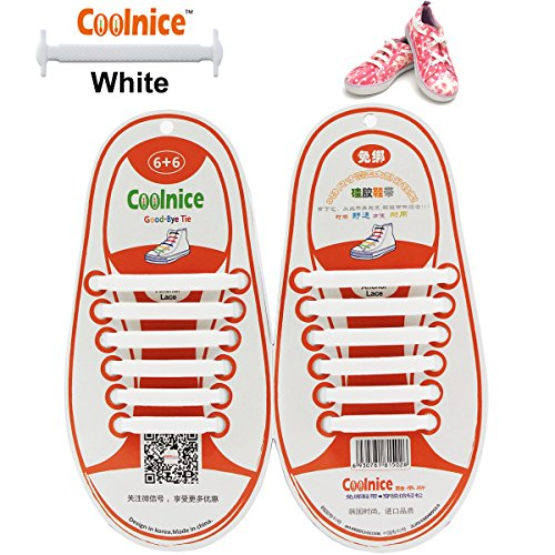 [Coolnice No Tie Shoelaces for Kids funny 12pcs - Environmentally safe silicone - Lazy Shoestrings - Color of] (The Best Halloween Costumes Ever Made)