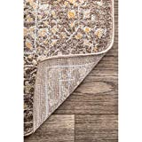 """nuLOOM Odell Vintage Area Rug, 5' x 7' 5"""", Brown"""