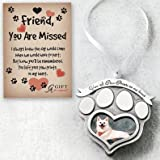 Cathedral Art CO843 Paw Prints Pet Memorial Photo Ornament, 2-1/2-Inch