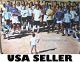 Soccer Who's Who POSTER 34 x 23.5 Kid Circled By David Beckham, Zinedine Zidane, Kaka, Lionel Messi, Other football players from 2006 (poster sent FROM USA in PVC pipe)
