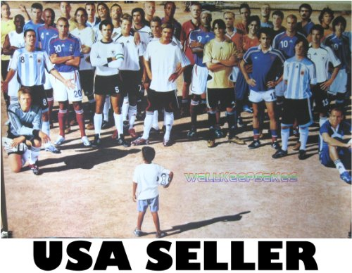 Soccer Who's Who POSTER 34 x 23.5 Kid Circled By David Beckham, Zinedine Zidane, Kaka, Lionel Messi, Other football players from 2006 (poster sent FROM USA in PVC pipe) by Unknown