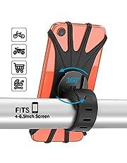 """PEYOU Soporte Movil Bici, 360° Rotación Soporte Movil Bicicleta Moto, Ajustable Universal Silicona Soporte, para iPhone X/XR/XS MAX, Samsung Galaxy, Xiaomi, Huawei y 4""""-6.5"""" Smartphones"""