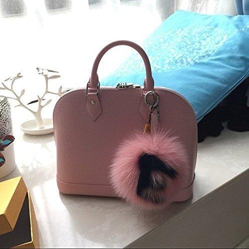 Amazon.com  Custom Name Fur Ball Keychain   Bag Charm Customize ... 61856998e2