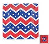 Set of 4 Patriotic USA Melamine 8