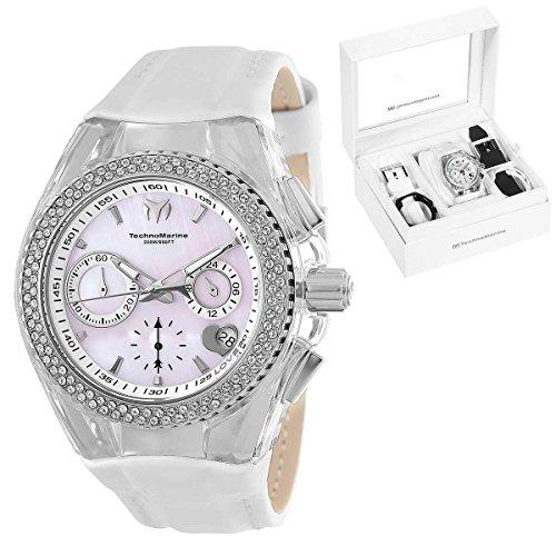 Technomarine TM-117044 Women's Cruise 40mm Chronograph Crystal Set Watch (Watch Cruise Chronograph)