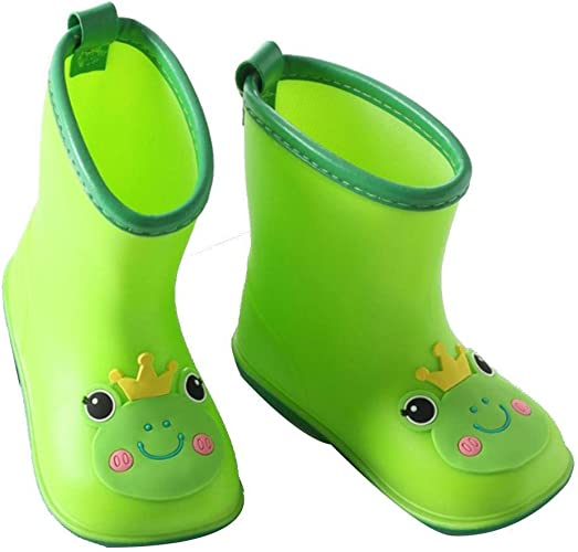 Children Rain Boots Baby Infant 1-6 Years Old Water Rubber Shoes TXST