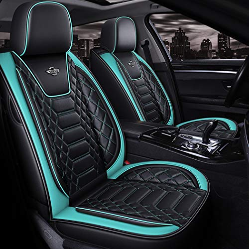 WL Leather Car Seat Cover Easy To Clean PU Leather Car Seat Cushions 5 Seats Full Set,B: Sports & Outdoors