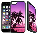 img - for [TeleSkins] - Tropical Palm Trees Sunset Beach - iPhone 6 Plus / 6S Plus Case - Ultra Durable Slim Fit, Protective Plastic with Soft RUBBER TPU Snap On Back Case / Cover for Girls. [Fits (5.5